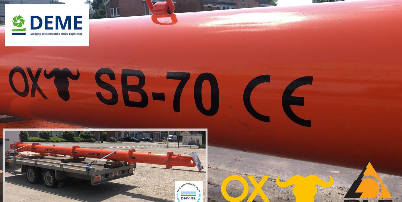Levering van een OX worldwide SB 70 spreader beam