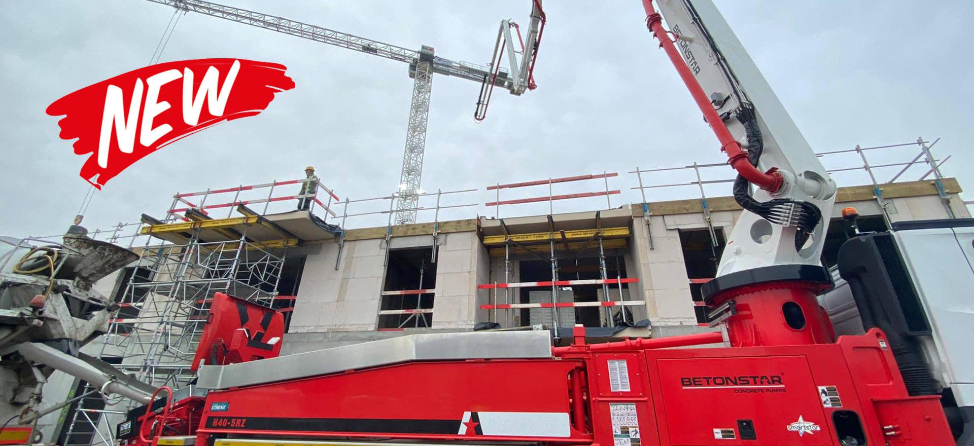 Levering van een nieuwe Betonstar H40-5RZ betonpomp