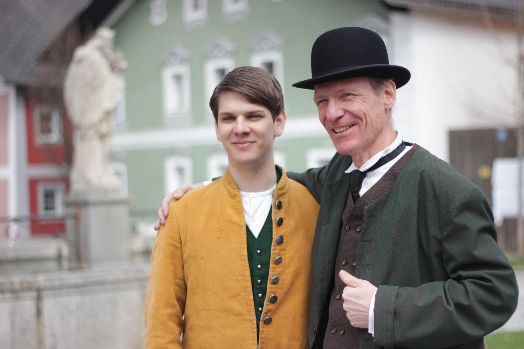 Adam mit Anton Ossberger