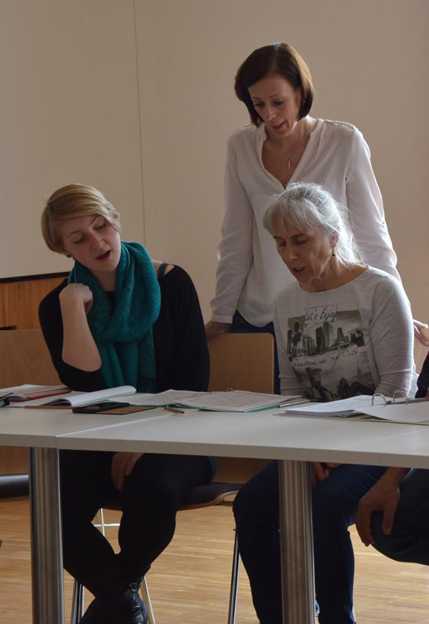 Johanna Falkinger, Judith Wipplinger-Peer und Berta Prechtl