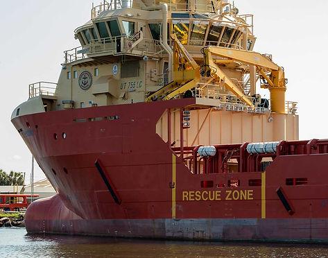 Seagoing ship at anchor in Tampa Bay Harbor Tour, Tampa FL