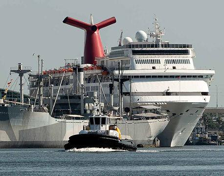 Large tug boat in Tampa Bay Harbor Tour, Tampa FL