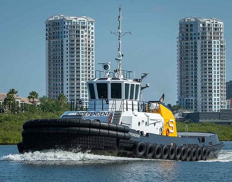 Tugboat underway in Tampa Bay Harbor Tour, Tampa FL
