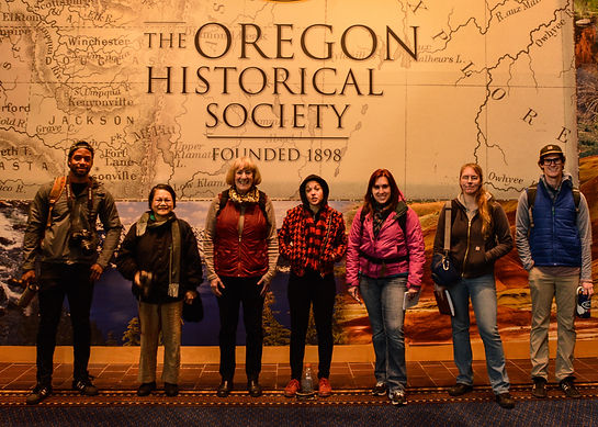 My PCC Photography class at Oregon Museum of History to see Carlton Watkins exhibit.