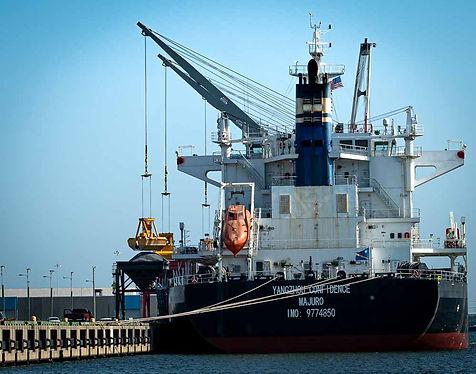 Cargo ship in Tampa Bay Harbor Tour, Tampa FL
