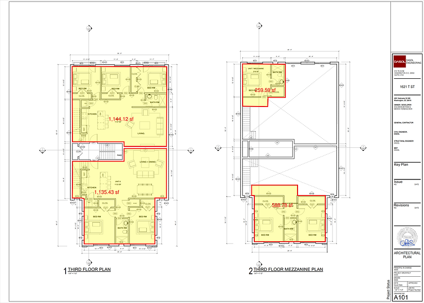 FLOOR PLANS AND FT PRINT LEVEL 3 AND MEZ