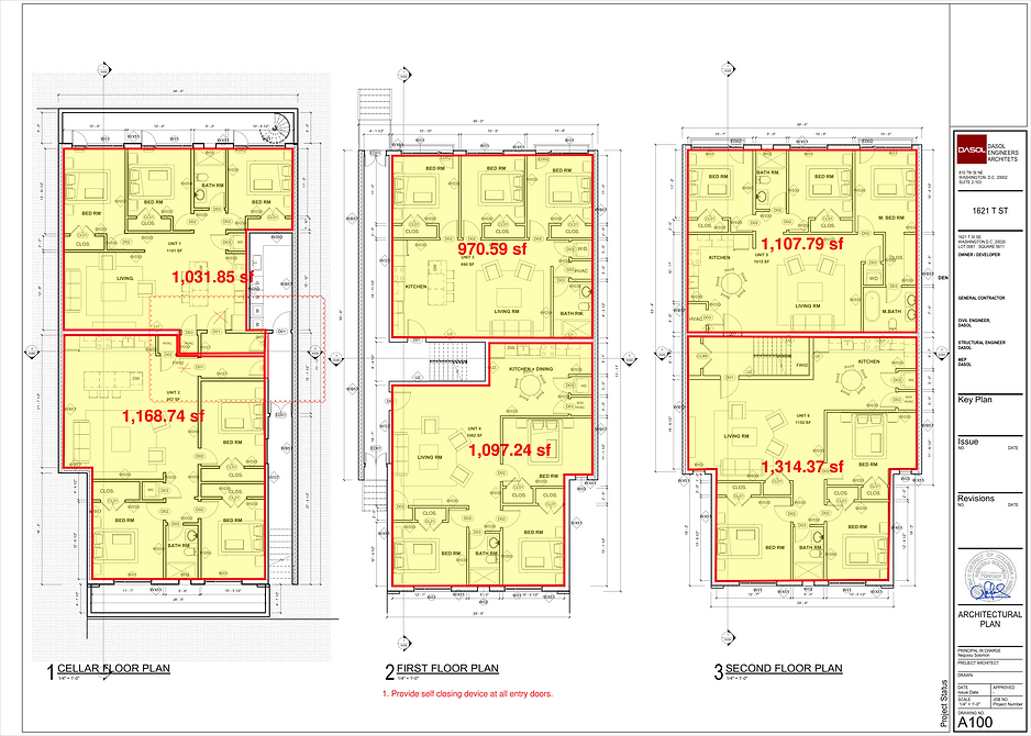 FLOOR PLANS AND FT PRINT LEVELS 1 THROUG