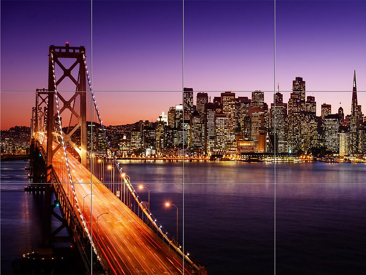 """Модульная картина """"Сан-Франциско. Небоскребы"""""""