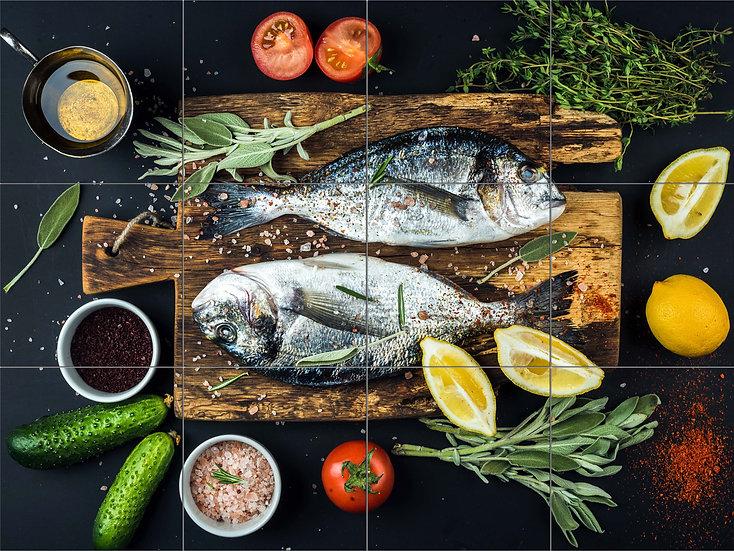 """Лаковая картина """"Две рыбы"""""""