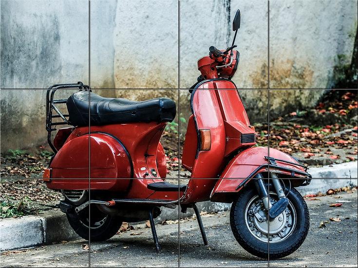 модульная картина Paolo Ayroni Красный скутер