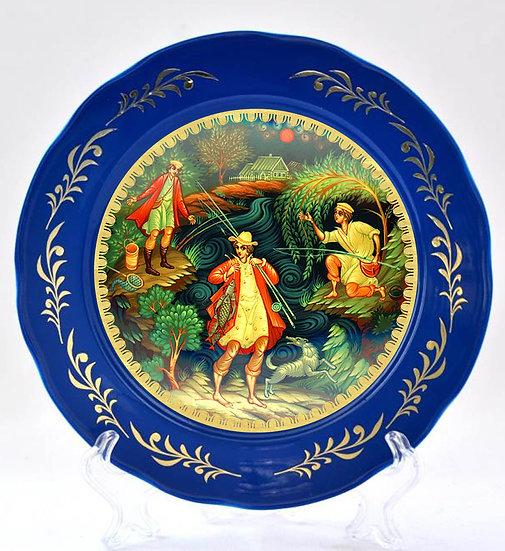 "Декоративная тарелка ""Рыбаки"""