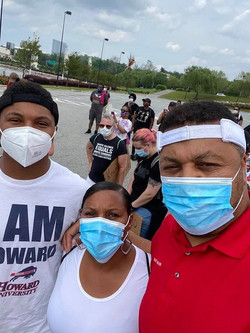 Team Walker at National Harbor June 2020 for BLM walk for justice and equality