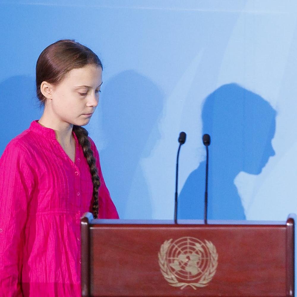 Greta Thunderberg em discurso na ONU - Reprodução