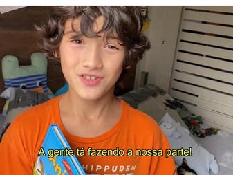 Danni Suzuki dirige vídeo com crianças e adolescentes para ajudar refugiados e migrantes venezuela..