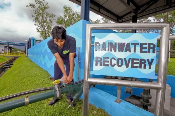 Reaproveitamento de água da chuva