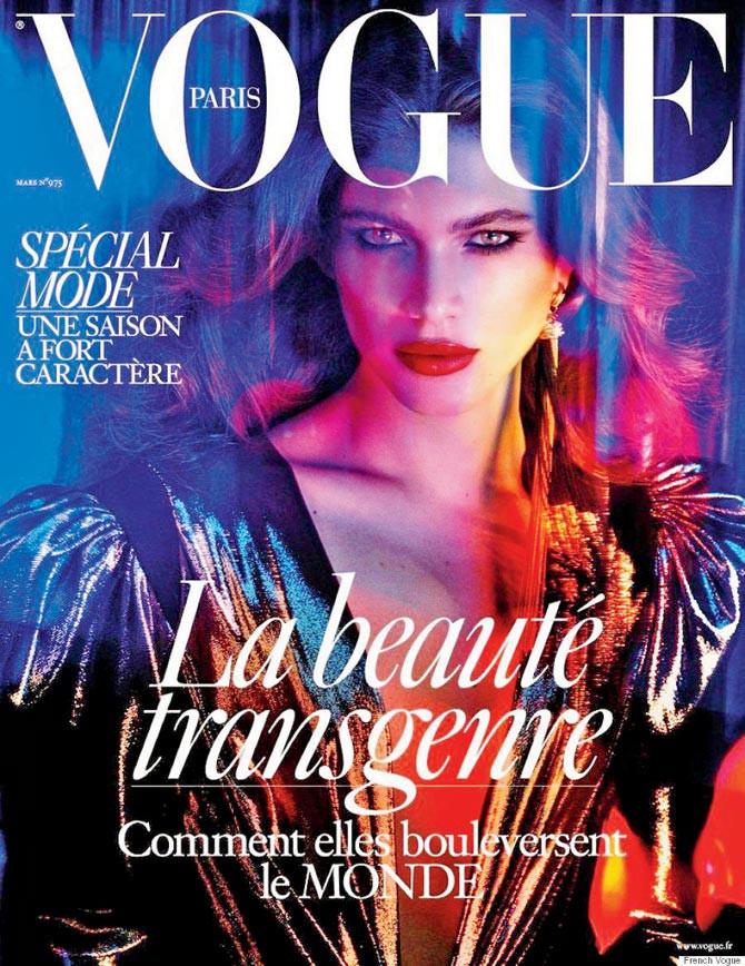 Valentina Sampaio na capa da Vogue Francesa - Reprodução