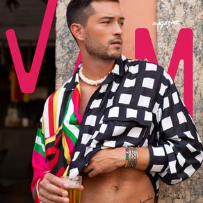 Modelo internacional Francisco Lachowski,  fotografa para VAM Magazine