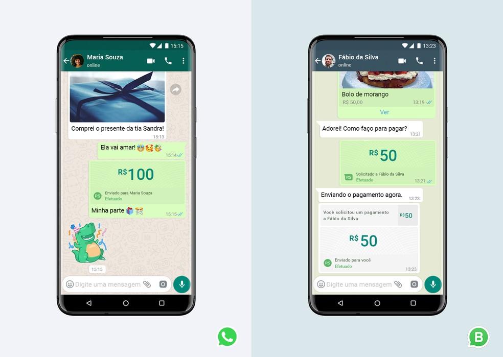 WhatsApp Pay chega ao Brasil e promete facilitar as transações de envio e recebimento de dinheiro — Foto: Divulgação/WhatsApp