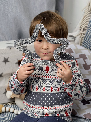 Новорічний флісовий пуловер