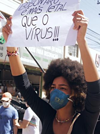 Protesto #ForaBolsonaroeMourão no dia 24.07.21. Confira a fotorreportagem