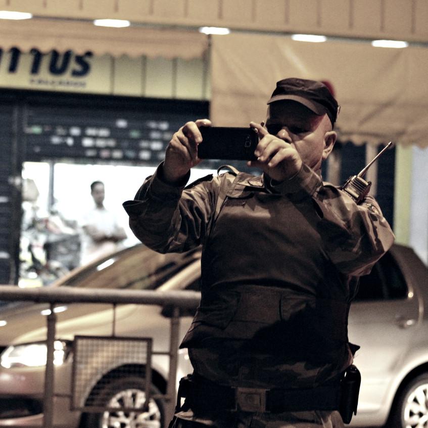 policial sem distintivo