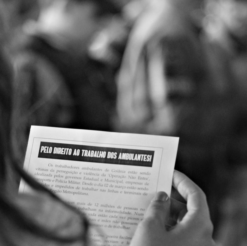 12.03.18 - protesto dos ambulantes pelo direito ao trabalho