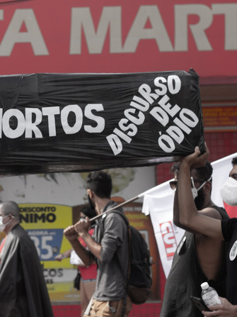 Goiânia, 19.06.21, ato Fora Bolsonaro - Por: Juliana Bento