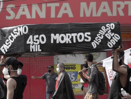 O povo toma as ruas contra o fascismo de Jair Messias Bolsonaro