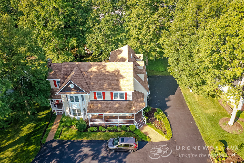 Aerial photo of a residential property