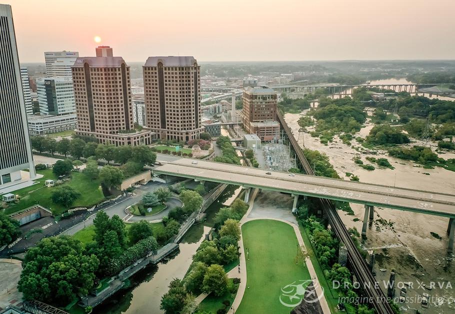 Aerial photo of downtown Richmond, Virginia