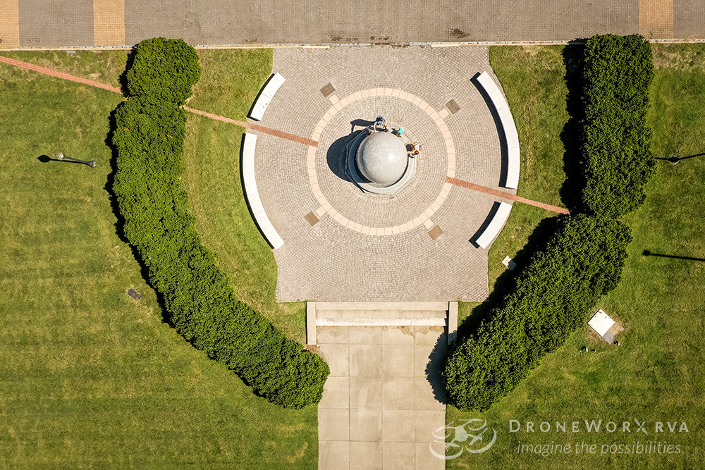 Aerial photo of The Science Museum of Virginia