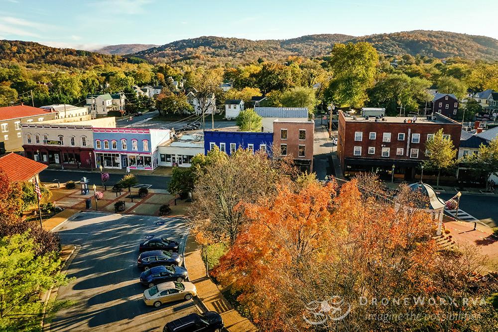 Aerial photo of a Main Street