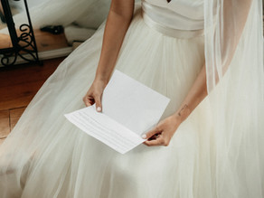 Wedding Videography Guide - Letter Writing