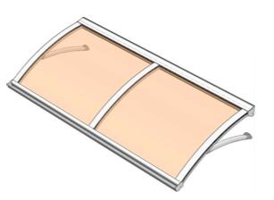 Pensilina policarbonato modello Aria