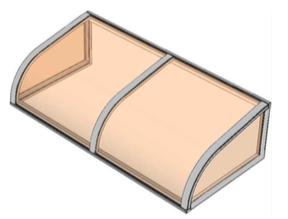 Pensilina policarbonato modello Sole