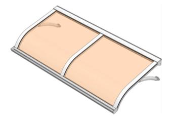 Pensilina policarbonato modello Acqua