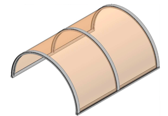 Tunnel in policarbonato