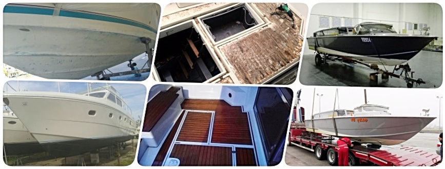 Carrozzeria barca, restauro imbarcazioni, vetroresina, verniciatura barca,