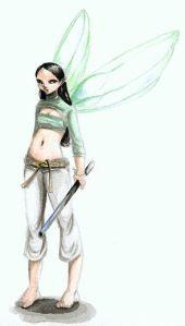 Green warrior fairy elfwood - gerlinde