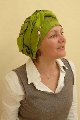 Couvre tête en soie