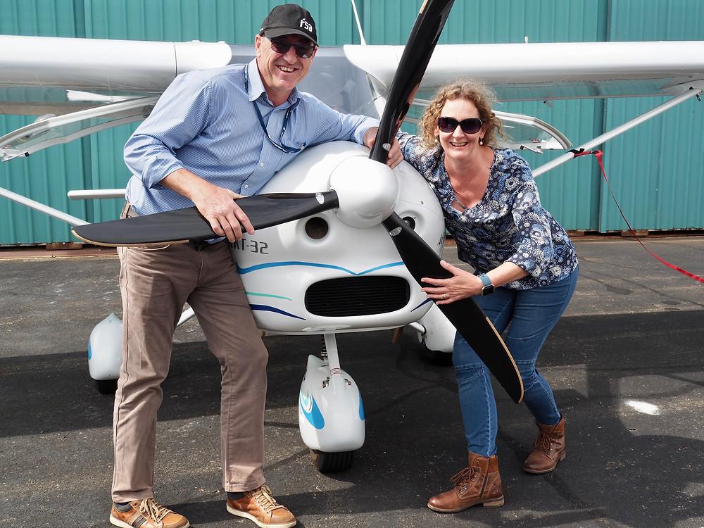 Trevor and Gayle Kee of TG´s Child Care enjoy pleasure flights on their Vixxen featured on Brilliant-Online Magazine