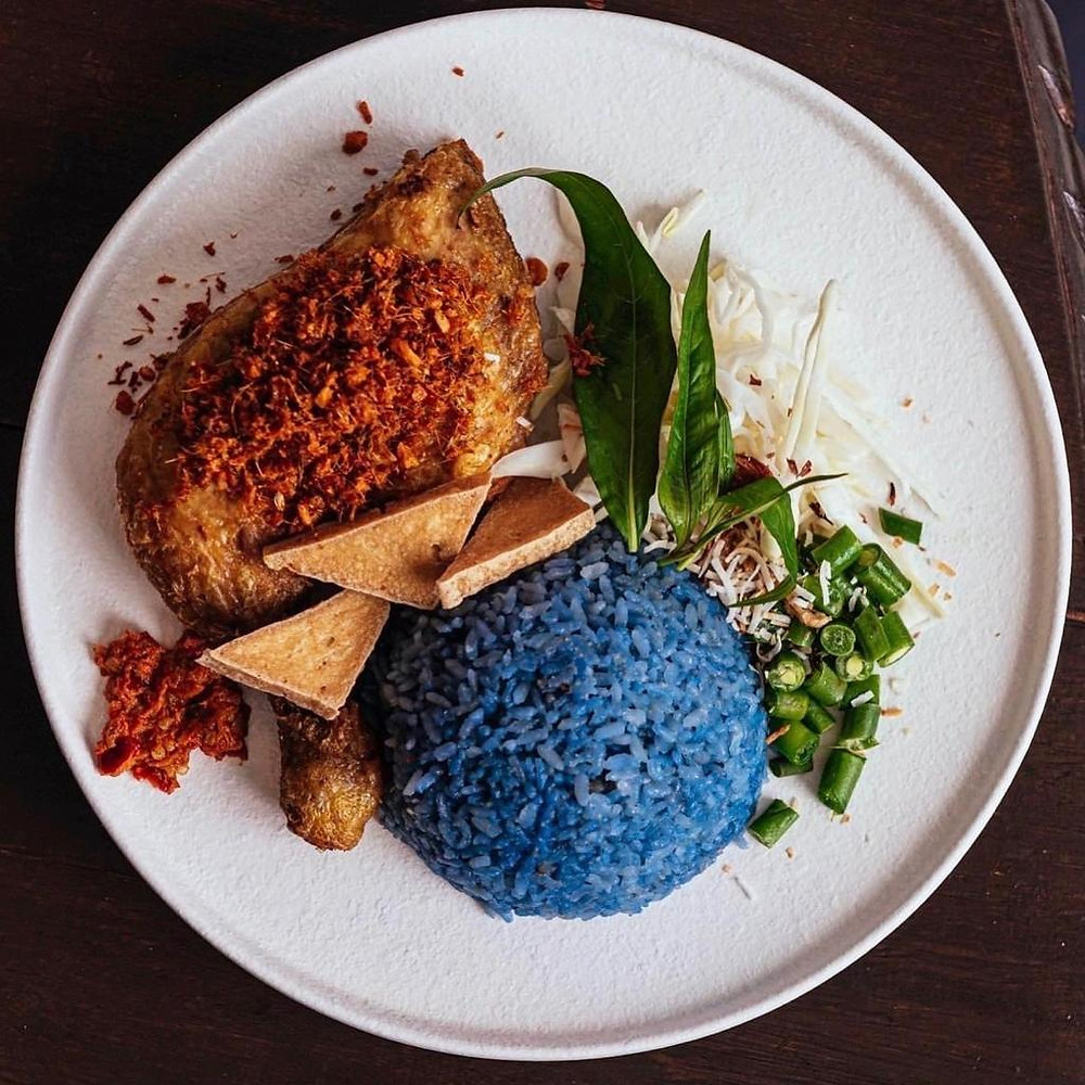 An image of home made food made with My Blue Tea's products