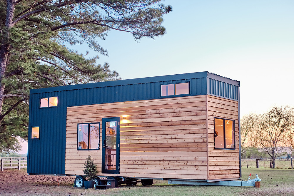 Hauslein Tiny House Co. exterior view, featured on Brilliant-Online Magazine
