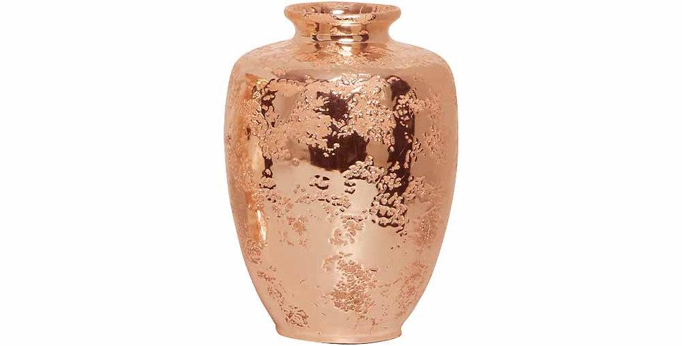 Vaso Baixo Bronze Rose Envelhecido