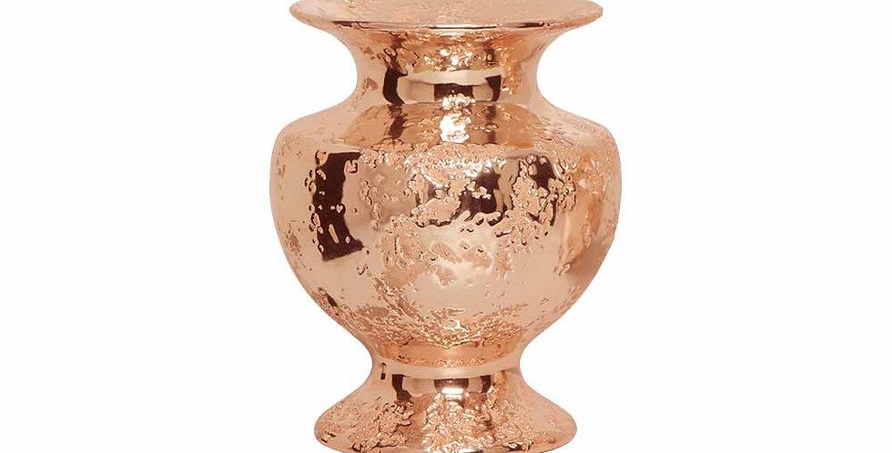 Vaso Largo Bronze Rose Envelhecido