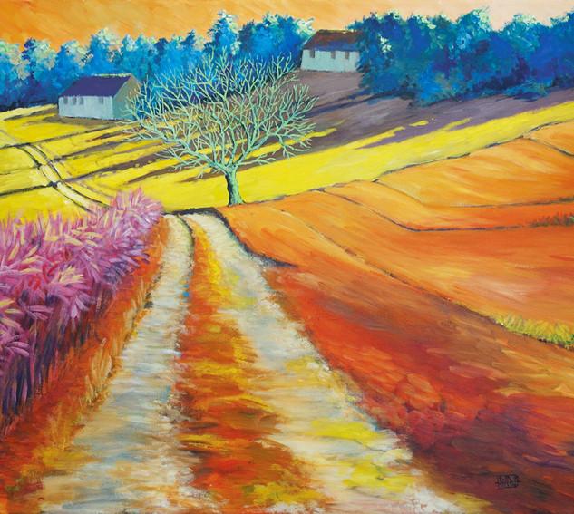 """Landschaft ohne Grün I"" 80 x 60 cm"