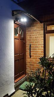 CANOFIX Door Canopy 650x1200 Black Clear