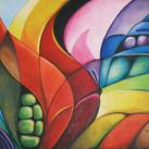 """""""Flammende Flora"""" 90 x 130 cm"""