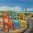 """""""Strandstühle auf Sylt II""""  60 x 60 cm"""