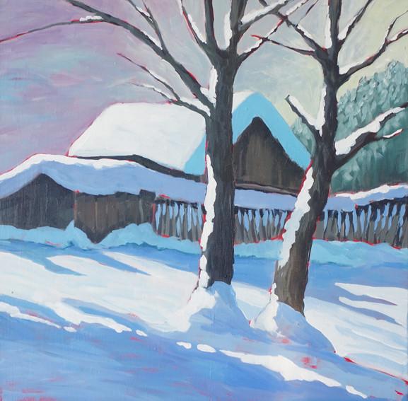 """""""Winterlicht"""" 50 x 50 cm"""
